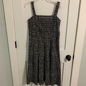 Talbots black & white dress fit/flare rockabilly